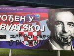 ЗАКОЉИ СРПСКУ ДЕЦУ: Поново уништен Пуповчев плакат, исписана језива порука