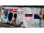 ДЕМОНСТРАЦИЈА МРЖЊЕ: У Старом Бару уништена застава Србије