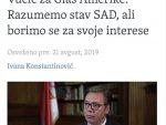 Александар Вучић: Наши пусти снови о Косову немају везе са реалношћу