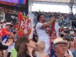 """ПОДРШКА НОВАКУ: Српска труба и """"Марш на Дрину"""" са трибина у Сиднеју (видео)"""