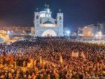 Више десетина хиљада грађана у Подгорици: Ми смо дјеца литија, народ икона, фреске су нам сјени